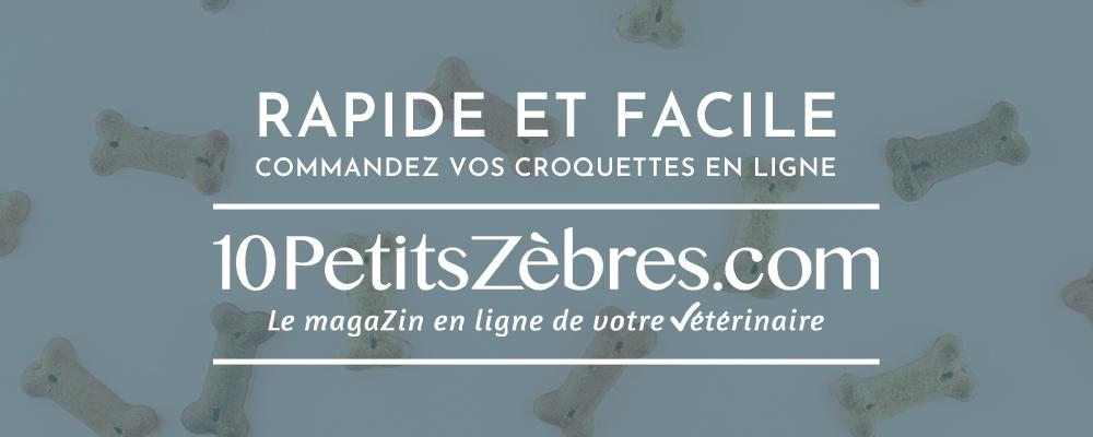Alimentation des animaux : Achetez vos croquettes sur le site de votre vétérinaire : 10petitszebres.com