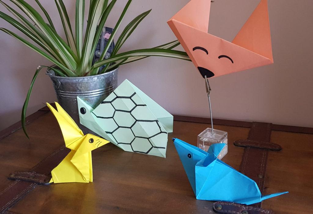 Activités insolites animaux - Origami